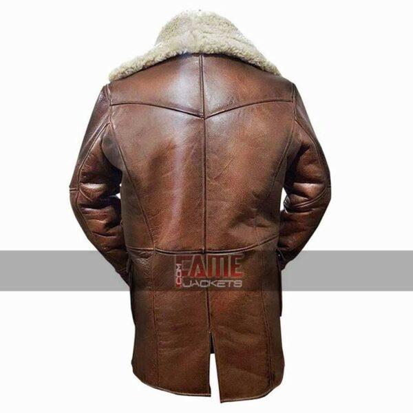 men bane fur leather coat