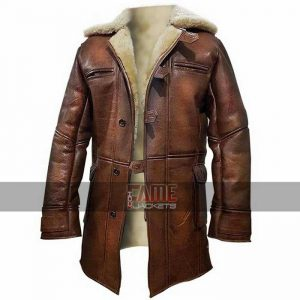 bane batman real leather coat