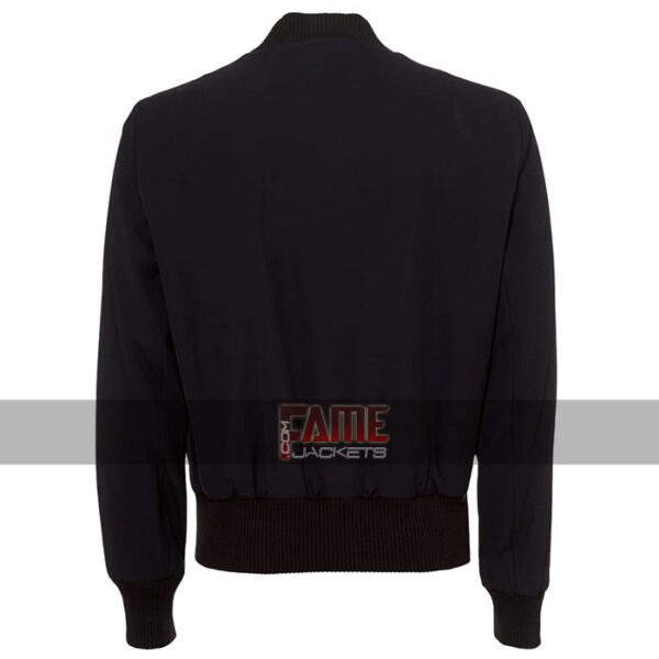 men bomber navy blue cotton jacket