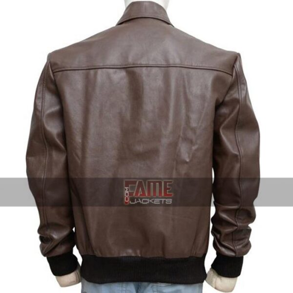 mens casual brown real leather jacket