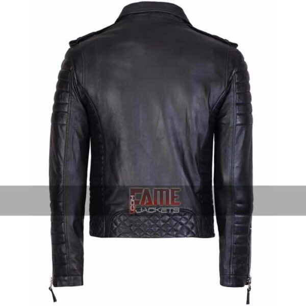 mens slim fit vintage genuine leather jacket