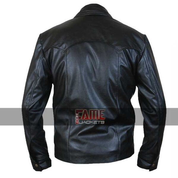 mens designer casual real leather jacket