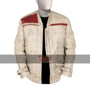 star wars white distressed leather jacket