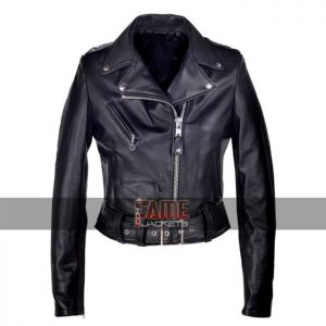 women black real lambskin leather jacket