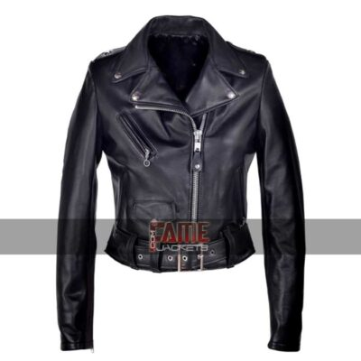 women black real lambskin leather jacket