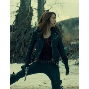 wynonna earp black real leather jacket