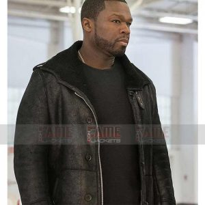 Mens Black Leather Winter Fur Coat