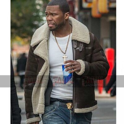 Brown Suede Leather Shearling Jacket