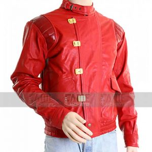 Red Vintage Leather Jacket For Men