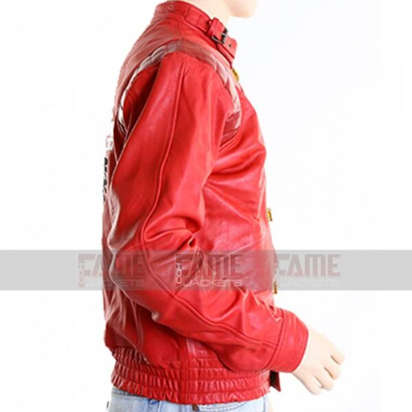 Akira Kaneda Red Vintage Leather Jacket For Men On Off Price