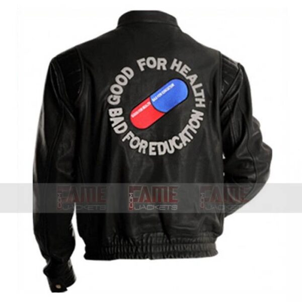 Akira Kaneda Mens Black Leather Capsule Bomber Jacket