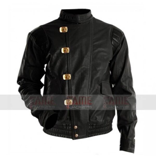 Akira Kaneda Mens Womens Black Leather With Capsule Jacket