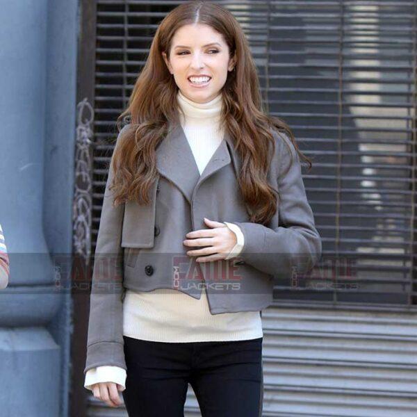 Buy Anna Kendrick New Style Wool Slim Fit Jacket