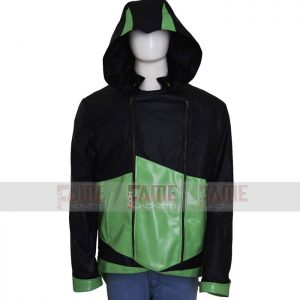 Unisex Hoodie Leather Jacket