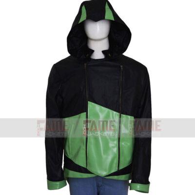 Unisex Hoodie Leather Jacket