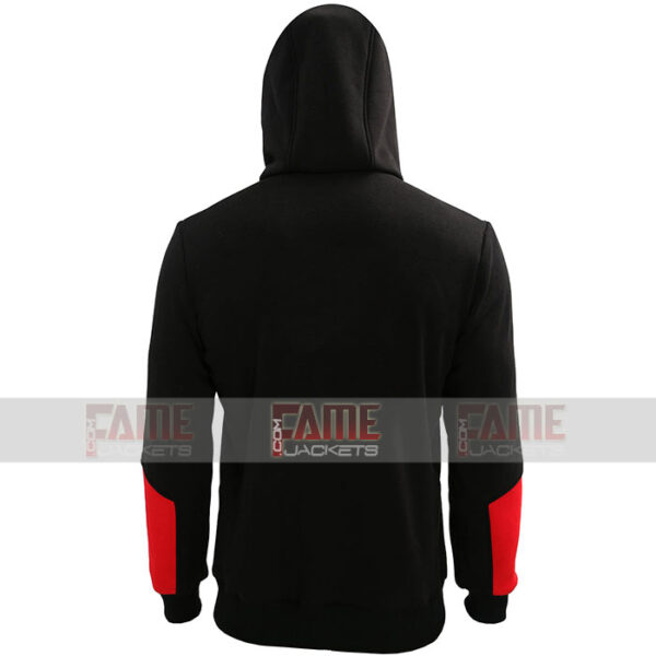 Unisex Red Black Hoodie Coat