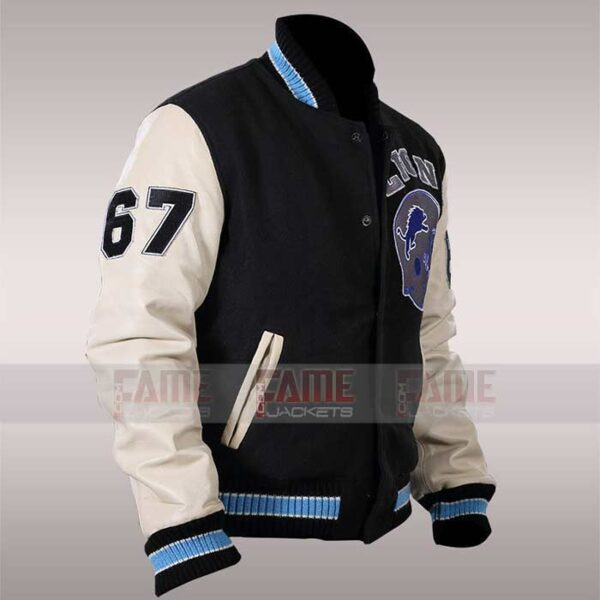 Eddie Murphy Axel Foley Detroit Lions Letterman Jacket
