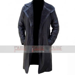 Buy Ryan Gosling Blade Runner Black Leather Winter Coat