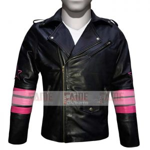 Bret The Hitman Hart Black Biker Jacket For Men
