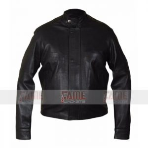 Mens Black Leather Casual Jackets