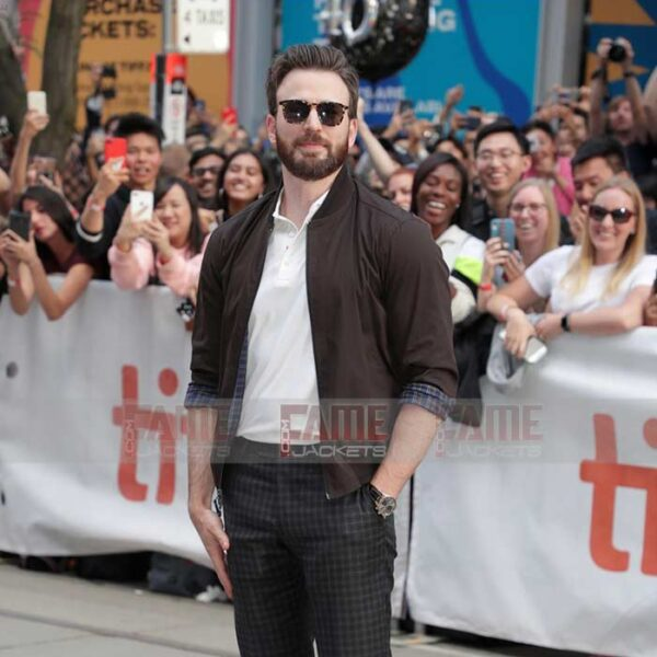 Buy Chris Evans Knives Out Bomber Jacket