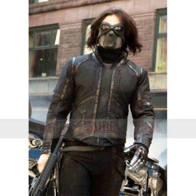 Civil War Captain America Bucky Barnes Leather Jacket
