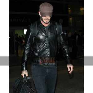 Mens Black Slim Fit Leather Jacket