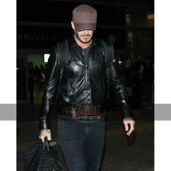 Mens Black Slim Fit Leather Jacket