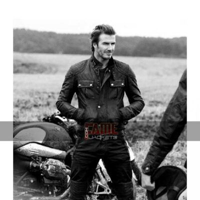 Mens Quilted Black Leather Jacket On Sale