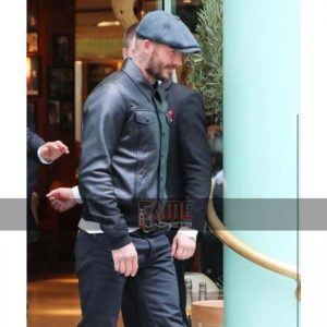 Mens Vintage Style Black Leather Jacket