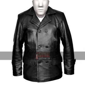 dr who olive german military mens winter black leather