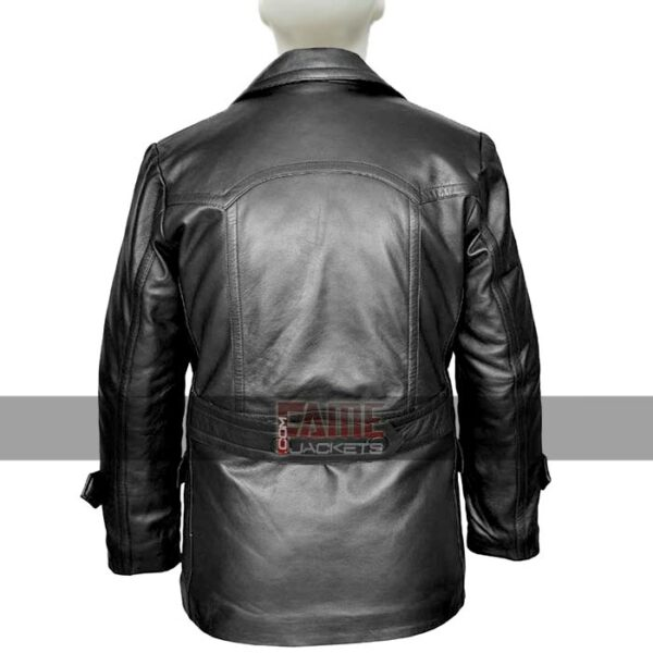 dr who olive german military mens winter black leather coat