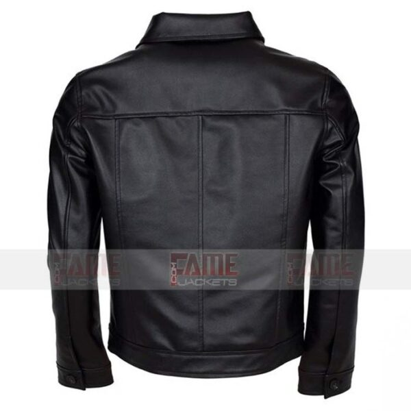 Mens Genuine Black Leather Jacket
