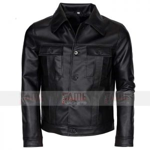 Mens Genuine Black Leather Jacket