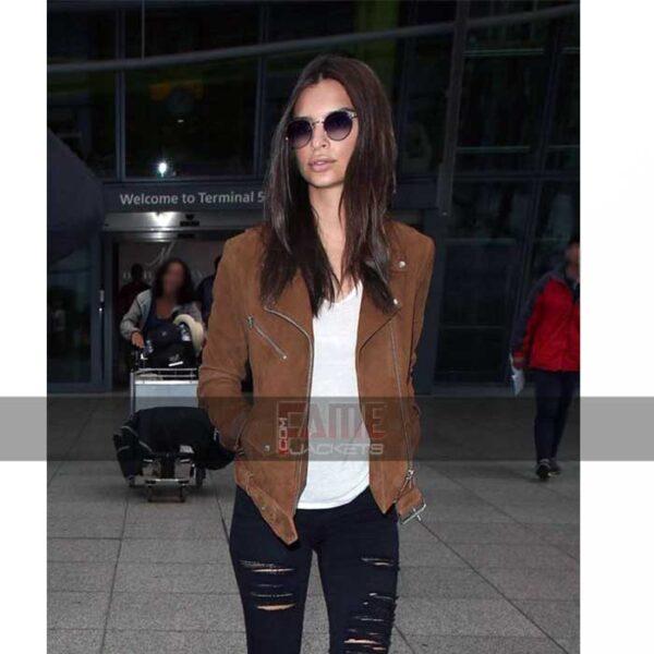 Buy Brown Suede Leather Slim Fit Jacket