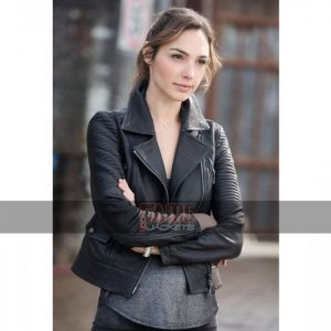 Black Biker Leather Jacket For Women