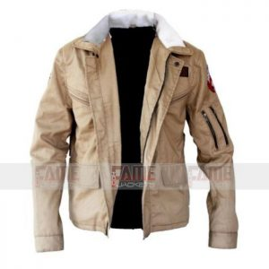 Brown Cotton Jacket For Men