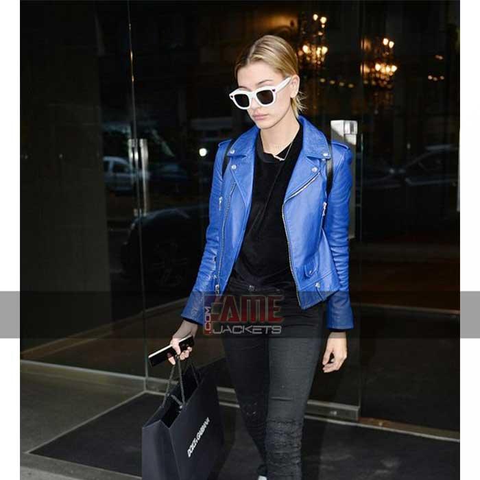 Blue Biker Jacket Bag