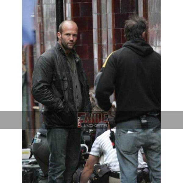 jason statham black leather military jackets