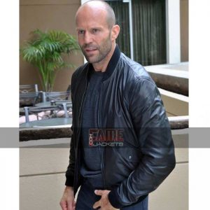 Mens Casual Black Slim Fit Leather Jacket