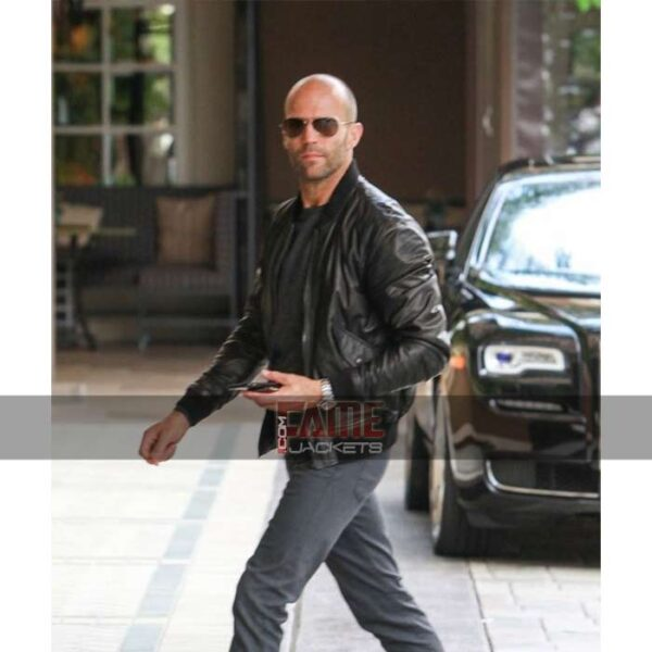 Men Black Slim Fit Leather Jacket