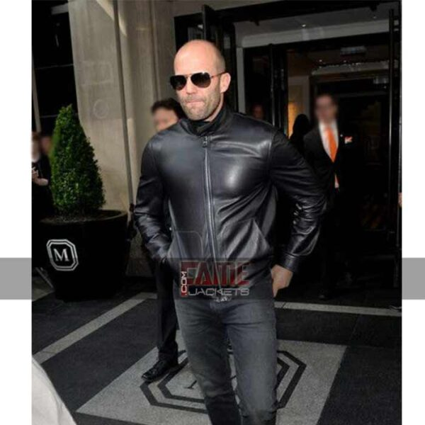 Mens Slim Fit Moto Black Leather Jacket