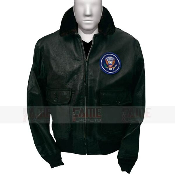John f Kennedy Mens Brown Leather Bomber Jacket