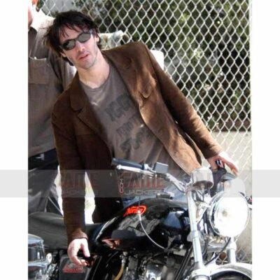 Mens Casual Brown Suede Leather Blazer