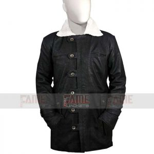Mens Black Suede Winter Coat