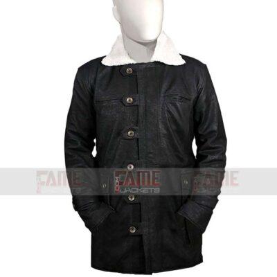 Mens Black Suede Winter Coat