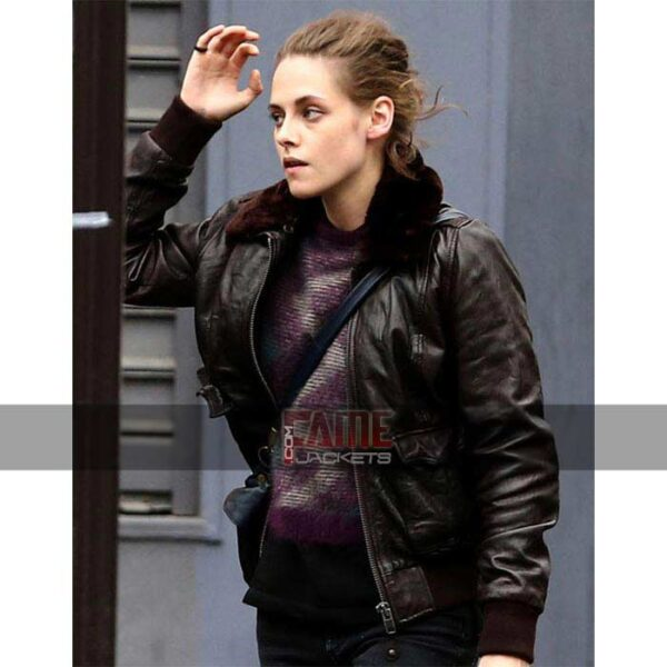 Women Vintage Brown Fur Collar Leather JAcket