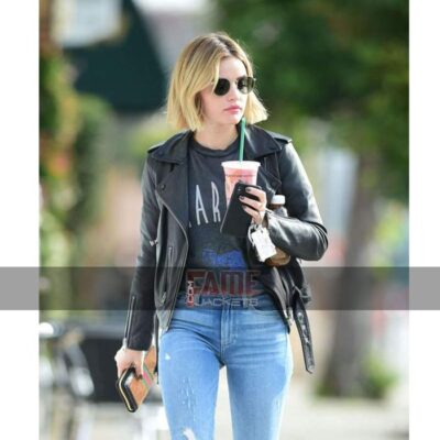 Lucy Hale Real Black Leather Jacket