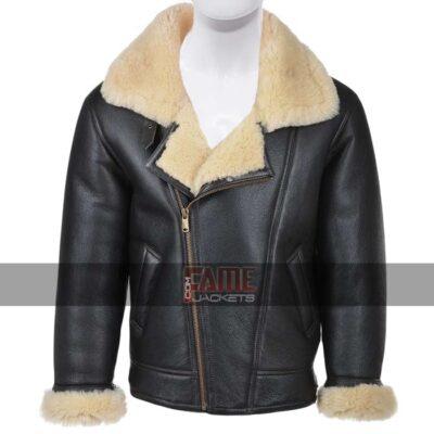 Men Aviator b3 Bomber Fur Lining Winter Jacket