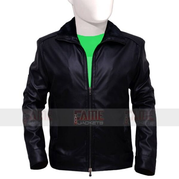 Mens Black Leather Jacket With Fur Collar